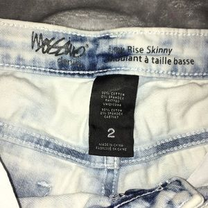Mossimo Supply Co. Jeans - White Acid Wash Skinny Jeans